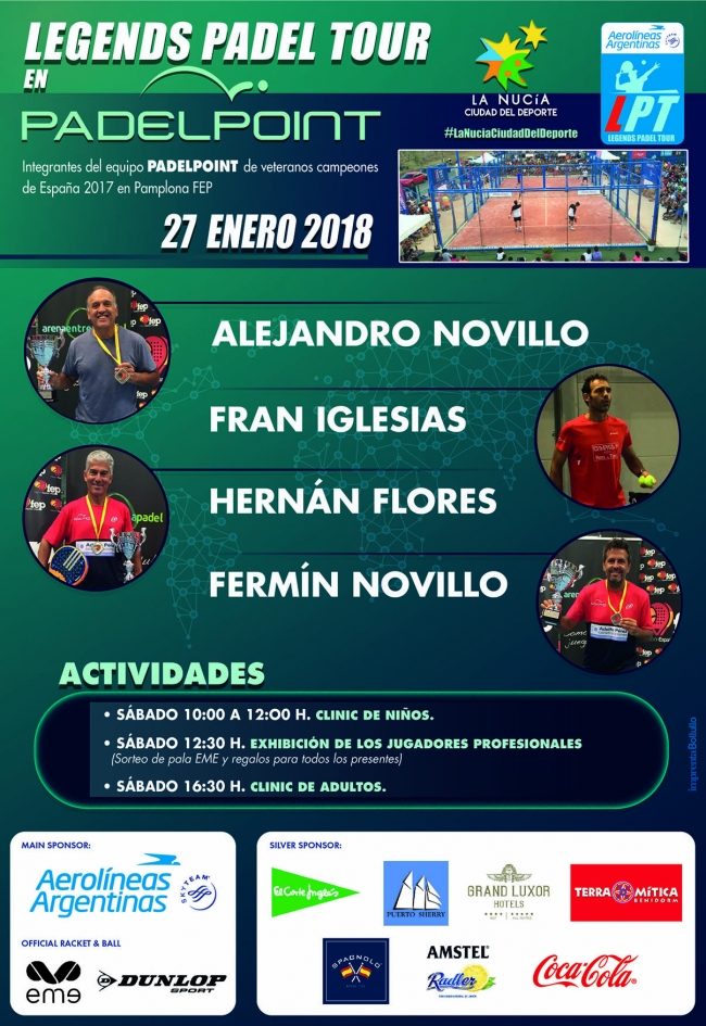 """AEROLINEAS ARGENTINAS"" LEGENDS PADEL TOUR"